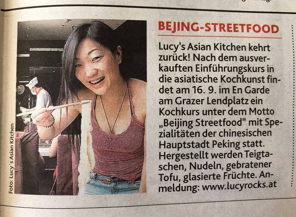 Kronen Zeitung Lucy's Asian Kitchen Beijing Streetfood