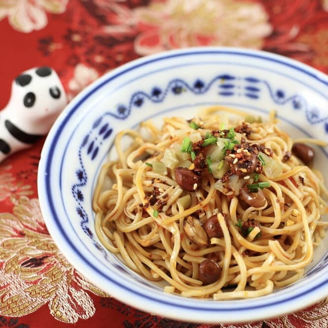 Liang Mian - cold spicy Noodles - Chinesisch Essen