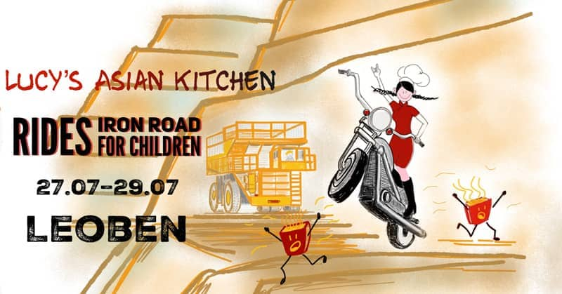 Chinesisches Streetfood - Artwork Leoben Iron Road For Children